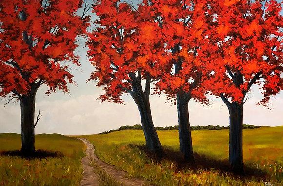 The Red Trees by Al Kilburn