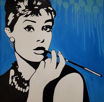 Audrey Hepburn by Taisha Teal