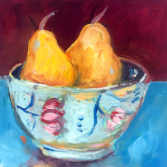 Still Life with Pears Art Class