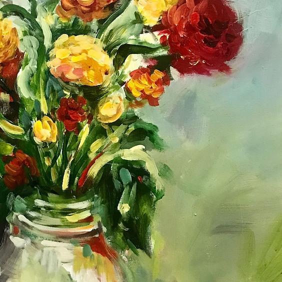 Warm Blossoms Art Class