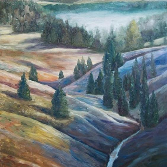 Landscape in Pastels Art Class