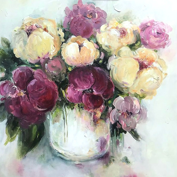 Loose Flowers in a Vase