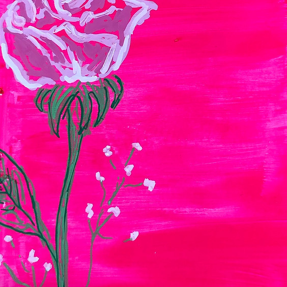 Rose Palette Knife Painting Art Class