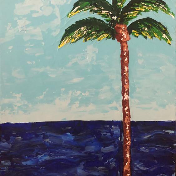 Palm Trees Palette Knife Art Class