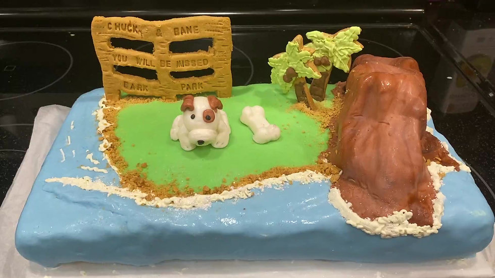 Diamond Head Park cake
