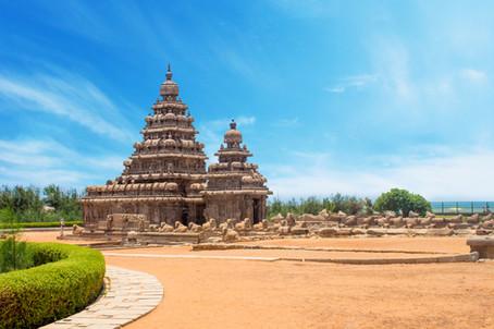 Shore temple at Mahabalipuram, Tamil Nad