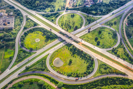 Aerial view of the Clover-Leaf Junction