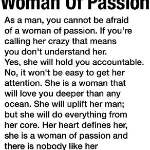 A woman of passion.