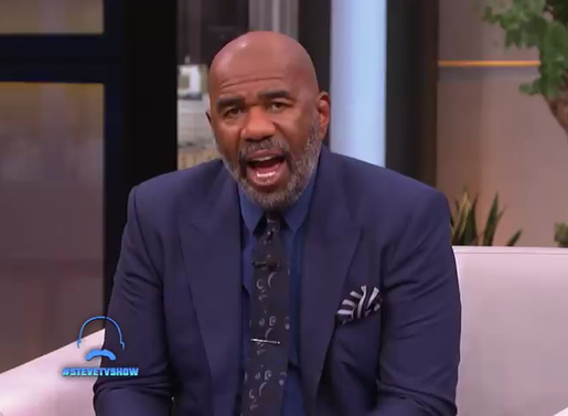Steve Harvey talks with the young man that walked 20 miles for work.