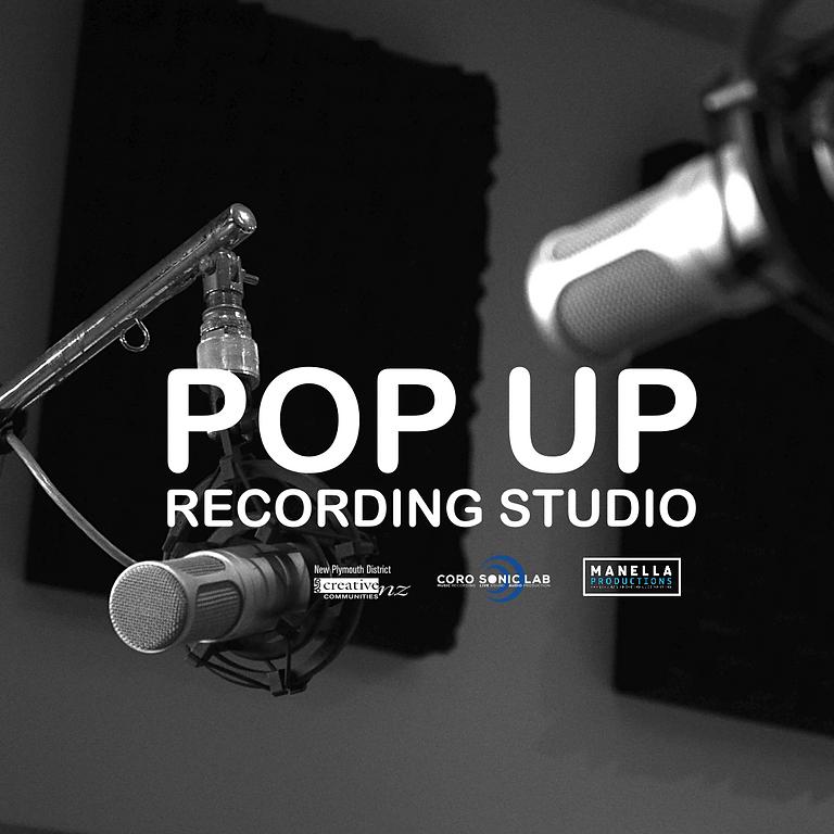 Sat 11am Pop Up Recording Studio