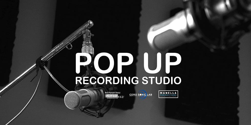 1.30pm Pop Up Recording Studio