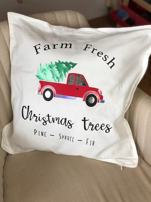 Farm Fresh Christmas Tree Cushion