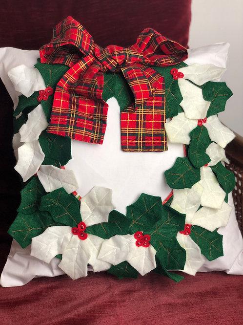 Christmas Wreath Cushion
