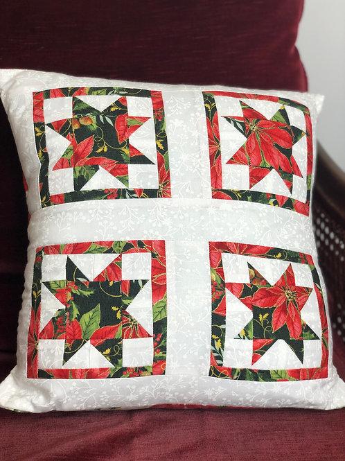 Christmas Star Patchwork Cushion
