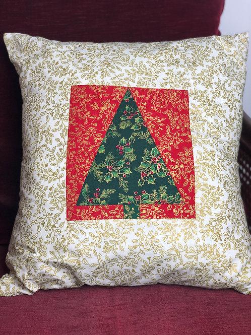 Christmas Tree Patchwork Cushion