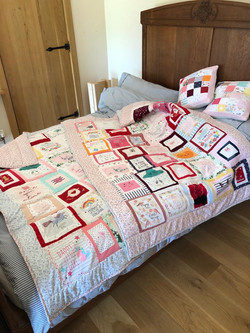 Baby clothes quilts and cushions