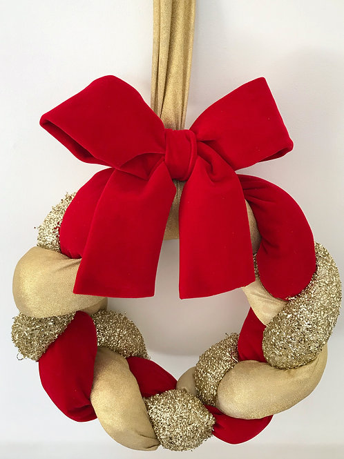 Red and Gold Christmas Wreath