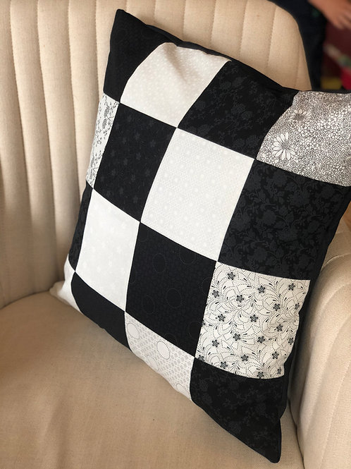 Monochrome Patchwork Cushion