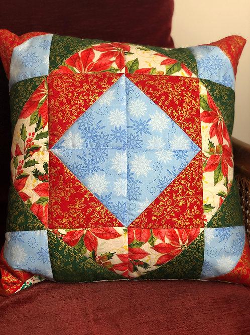 Christmas Patchwork Cushion