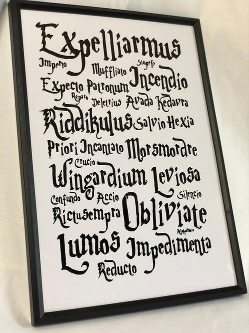 Harry Potter Spells Print