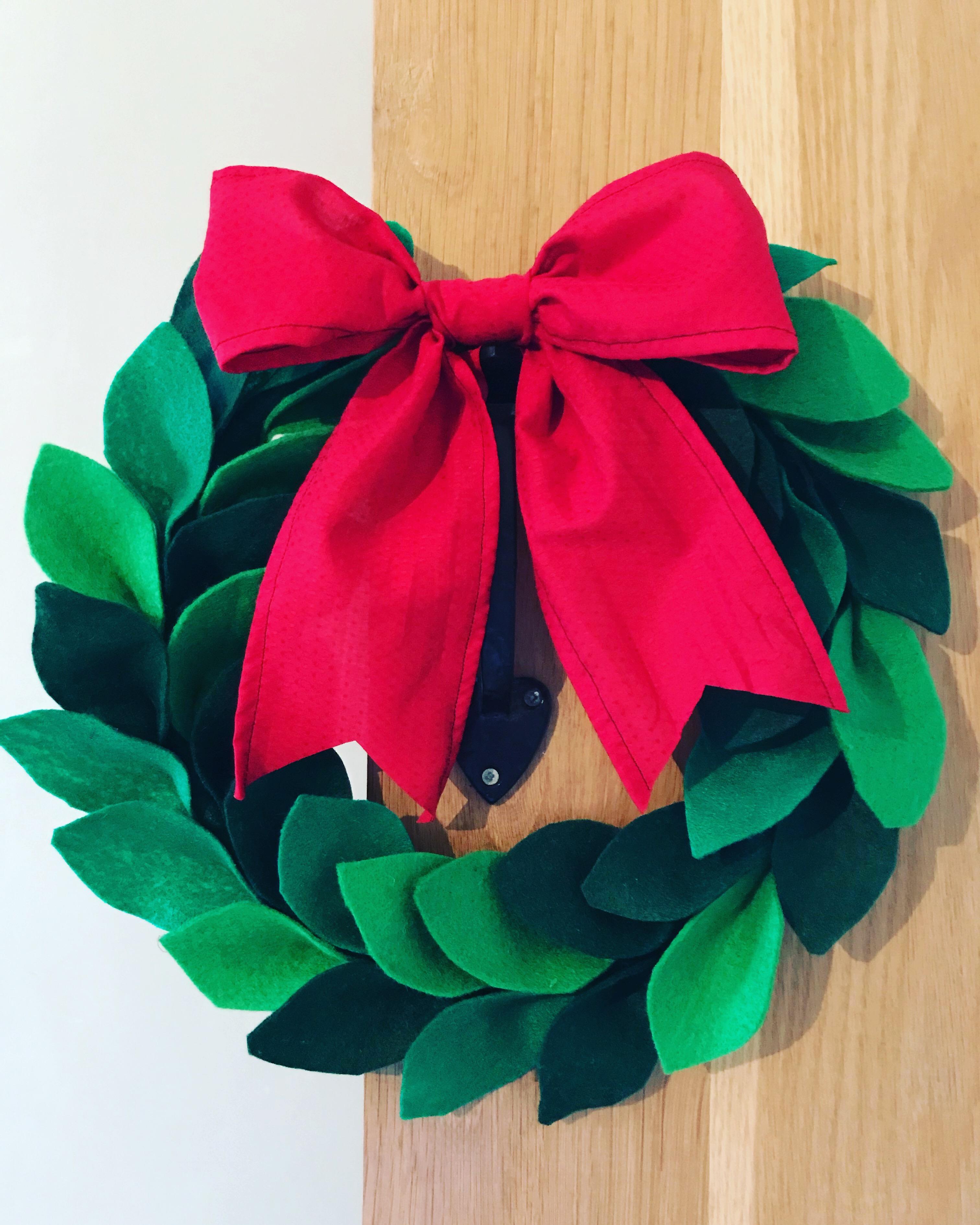Felt Christmas wreath