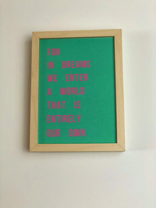 Neon Dumbledore Quote