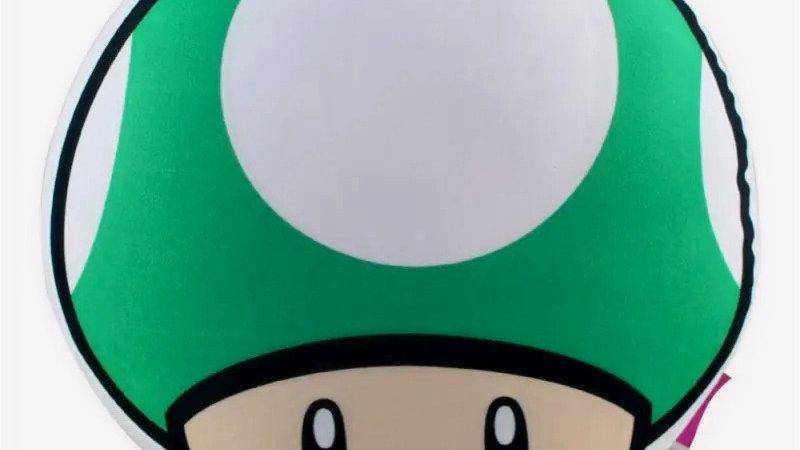 Almofada Formato Cogumelo UP Verde – Super Mario