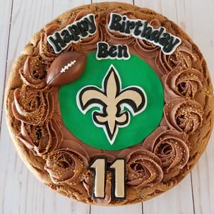 Saints cookie cake.jpg
