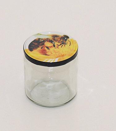 500g glass jar+lid