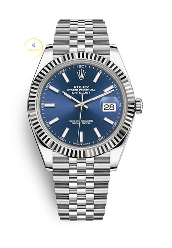Rolex Datejust 41 Steel and White Gold Blue Dial - 2020