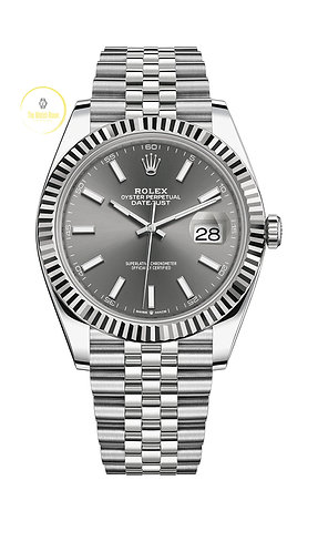 Rolex Datejust 41 Steel and White Gold Rhodium Dial - 2020