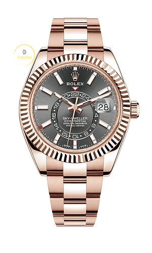 Rolex Sky-Dweller 18ct Everose Gold Rhodium Dial - 2020