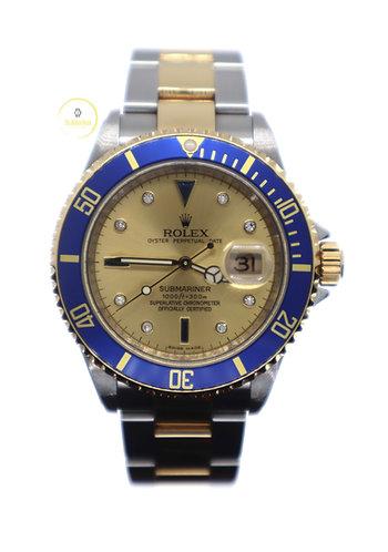Rolex Submariner Date Champagne Serti Dial - 2008