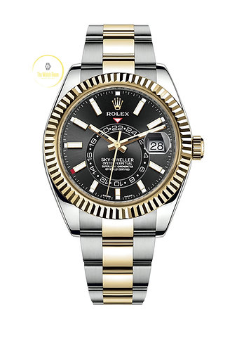 Rolex Sky-Dweller Steel and Yellow Gold Black Dial - 2021
