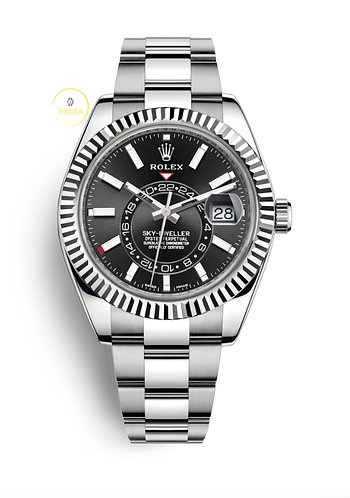 Rolex Sky-Dweller Steel and White Gold Black Dial - 2020
