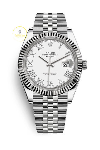Rolex Datejust 41 Steel and White Gold White Roman Dial - 2020