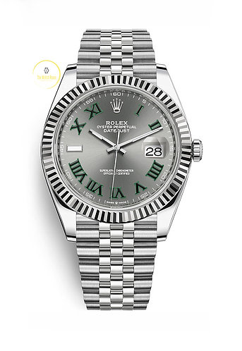 Rolex Datejust 41 Steel and White Gold Wimbledon Dial - 2021