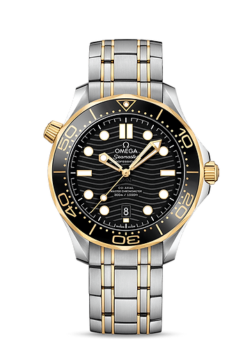 Omega Seamaster Diver 300m Co-axial Master Chronometer 42mm Steel and Gold