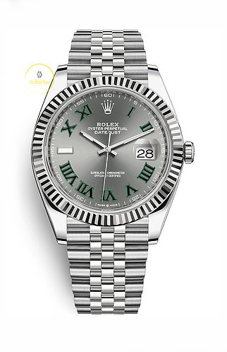 Rolex Datejust 41 Steel and White Gold Wimbledon Dial - 2020