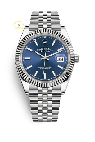 Rolex Datejust 41 Steel and White Gold Blue Dial - 2021