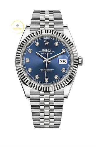 Rolex Datejust 41 Blue Diamond-Set Dial - 2021