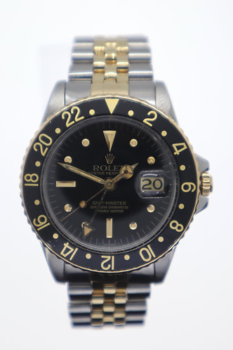 Vintage Rolex GMT-Master 1675 Nipple Dial Steel and Yellow Gold - 1973