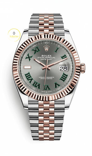Rolex Datejust 41 Steel and Everose Gold Wimbledon Dial - 2020