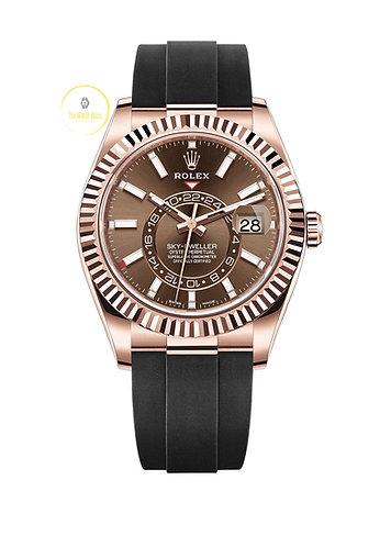 Rolex Sky-Dweller 18ct Everose Gold Chocolate Dial - 2021