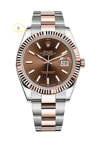 Rolex Datejust 41 Steel and Everose Gold Chocolate Dial - 2021