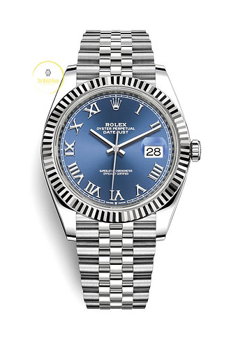 Rolex Datejust 41 Steel and White Gold Blue Roman Dial - 2020