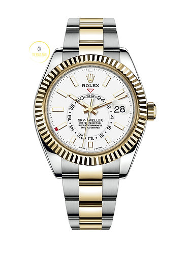 Rolex Sky-Dweller Steel and Yellow Gold White Dial - 2018