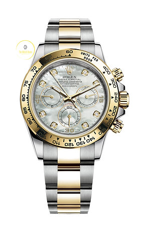 Rolex Cosmograph Daytona Steel/Gold, White Mother of Pearl Diamond Dial  - 2020