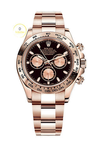 Rolex Cosmograph Daytona Everose Gold with Black and Pink Dial - 2020