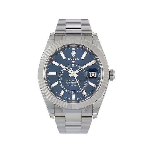 Rolex Sky-Dweller Steel and White Gold Blue dial